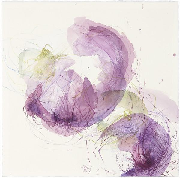 figues violettes et noires - 1, 2014 30 x 30 cm Aquarell, Acryl, Stifte auf Papier